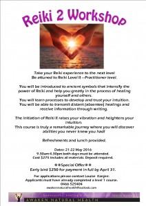 reiki 2 workshop flyer