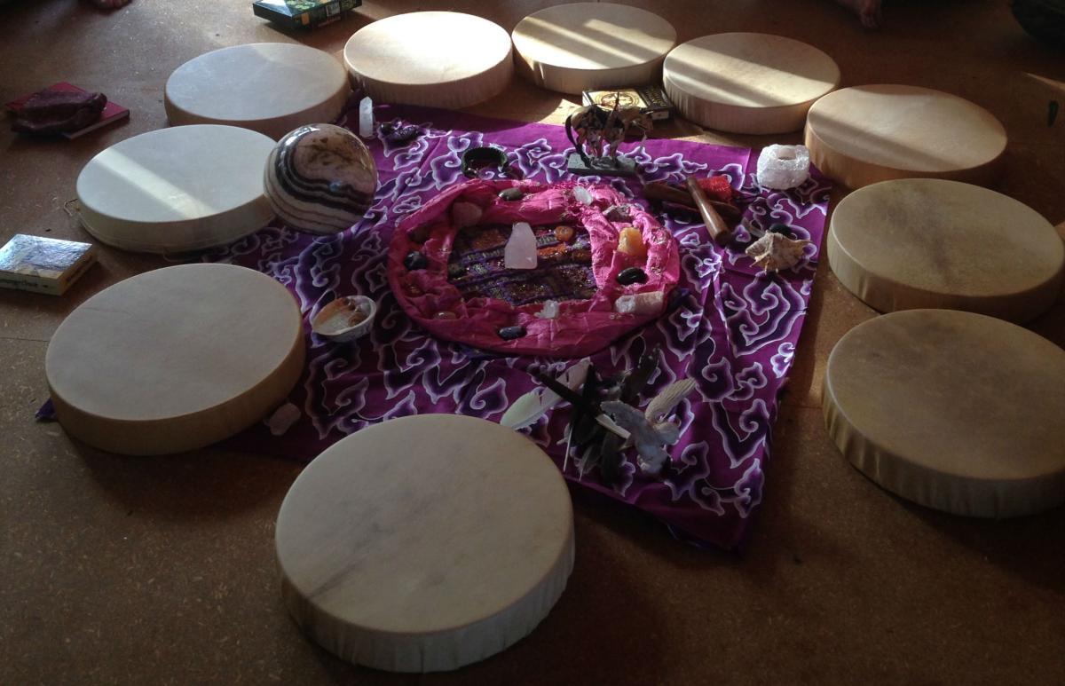drum altar crop